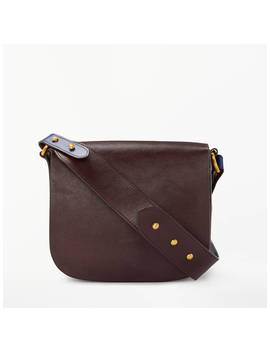 John Lewis & Partners Avery Leather Small Cross Body Bag, Chestnut by John Lewis & Partners