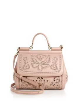 Sicily Medium Embroidered Top Handle Satchel by Dolce & Gabbana