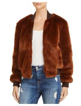 Ellington Faux Fur Bomber Jacket by Elizabeth And James