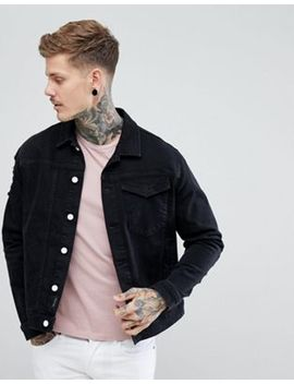 Religion Black Denim Jacket With Distressing by Religion