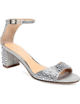 Crystal Block Heel Sandal by Jewel Badgley Mischka