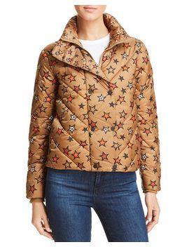 Star Print Cropped Puffer Jacket by Scotch & Soda