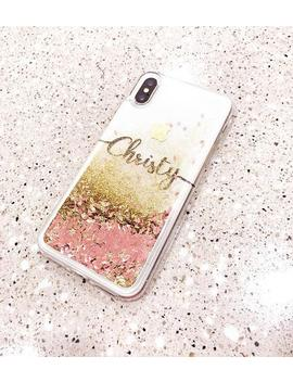 Rose Gold Liquid Glitter Phone Case I Phone 7 Case I Phone 7 Plus Case I Phone 6s Case I Phone 8 Case I Phone 8 Plus Case I Phone X Case by Etsy