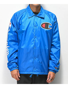 Champion Lined Blue Coaches Jacket by Champion