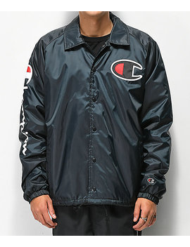 Champion Lined Black Coaches Jacket by Champion