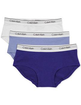 Little & Big Girls 3 Pk. Hipster Underwear by Calvin Klein