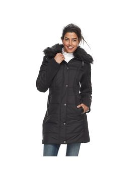 Women's Weathercast Faux Fur Trim Puffer Jacket by Kohl's