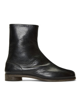 Black Tabi Chelsea Boots by Maison Margiela
