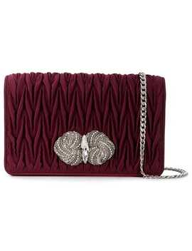Chevron Pleated Clutch by Miu Miu