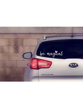 Be Magical Decal, Be Magical Sticker, The Original, Disney, Decal, Sticker, Car, Disney Car Decal, Disney Car Bumper Sticker, Disney World by Etsy