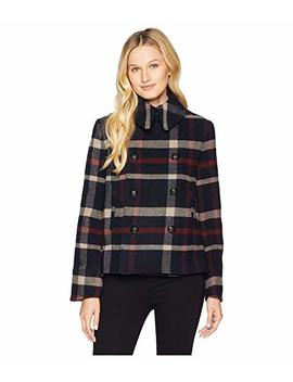 Plaid Wool Blend Peacoat by Lauren Ralph Lauren