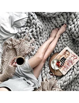 Ohhio's Grande Punto Blanket. Chunky Blanket. Merino Wool by Etsy