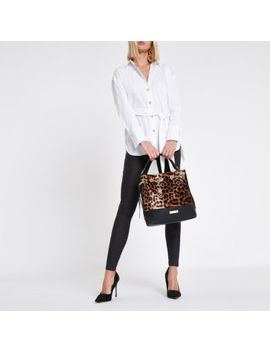 White Tie Front Long Sleeve Shirt by River Island