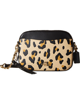 Leopard Print Blocked With Rivets Camera Bag by Coach