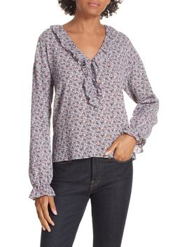 Nadia Cotton Floral Blouse by La Vie Rebecca Taylor