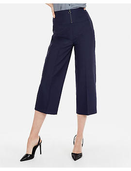 Super High Waisted Wide Leg Cropped Pant by Express