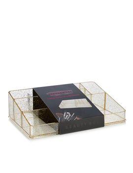 Beauty Box   Gold Glitter Large Make Up Organiser by Beauty Box