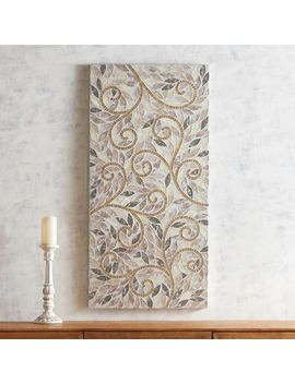 Golden Swirls Mosaic Wall Panel by Pier1 Imports