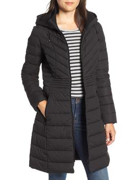 Stretch Quilted Walker Coat by Bernardo
