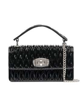 Leather Quilted Shoulder Bag by Miu Miu