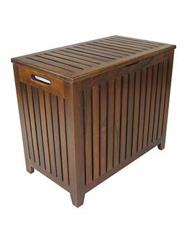 Redmon Genuine Teak Vanity Style Hamper by Redmon
