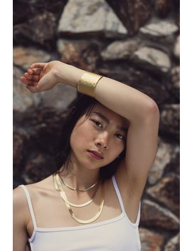 Gold Snake Chain Necklace, Herringbone Chain, Thick Gold Choker Necklaces, Layering Necklaces, Statement Jewelry, Versatile, Boho Chic by Etsy