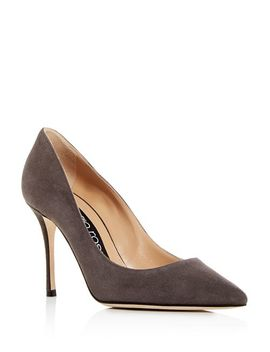 Women's Suede Pointed Toe Pumps by Sergio Rossi