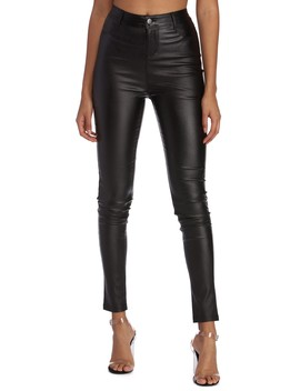 Step Out In Style Faux Leather Pants by Windsor