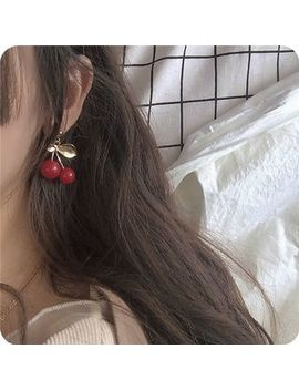 Po!Ny Studio    Cherry Drop Earring/ Clip On Earring by Po!Ny Studio
