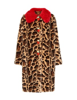 Leopard Faux Fur Coat by Dolce & Gabbana