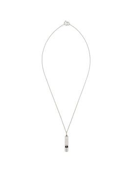 Silver E Whistle Necklace by Hugo