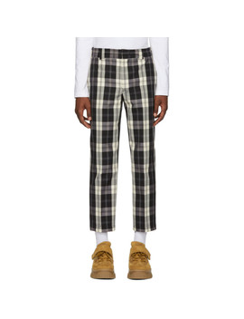 Black & White Check Trousers by Msgm
