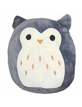 "Squishmallow Hoot The Owl Stuffed Animal, 16"", Grey by Squishmallow"