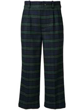 Tartan Crop Trousers by Bellerose