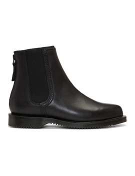 Black Zillow Zip Chelsea Boots by Dr. Martens