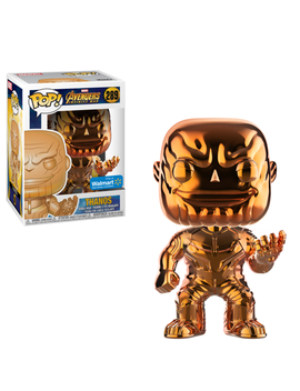 Funko Pop Marvel: Infinity War   Thanos   Orange Chrome   Walmart Exclusive by Funko