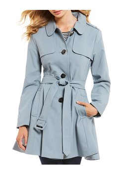 Basket Weave Water Resistant Rainwear Trench Coat by Kate Spade New York