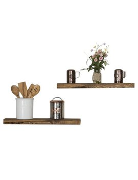 "Del Hutson True Floating Shelf   24"" Dark Walnut Set Of 2 by Del Hutson Designs"