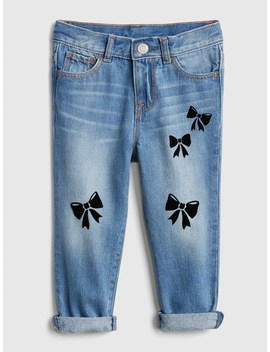 Bow Girlfriend Jeans by Gap