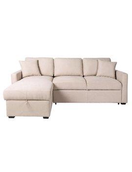 Argos Home Reagan Left Hand Corner Chaise Sofa Bed   Natural by Argos