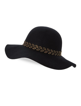 Studded Wool Floppy Hat by C Lective