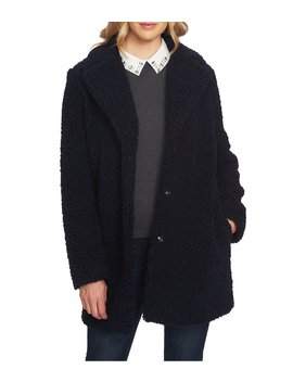 Curly Shearling Single Breasted Teddy Jacket by Ce Ce