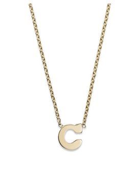 "14 K Yellow Gold Initial Necklace, 16"" by Zoë Chicco"