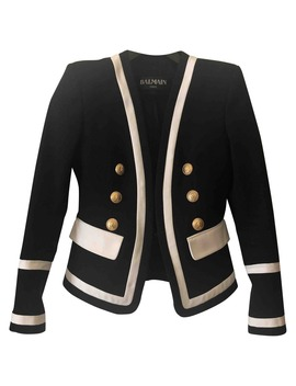 Black Cotton Jacket by Balmain