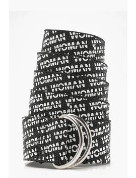 Woman Printed Longline Belt by Boohoo