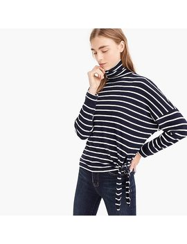 Tie Waist Turtleneck In Stripe by J.Crew
