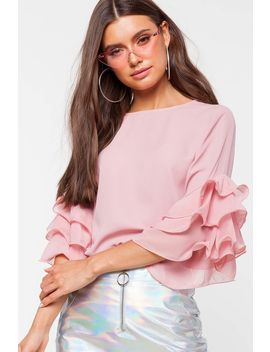 Ruffle Sleeve Blouse by A'gaci