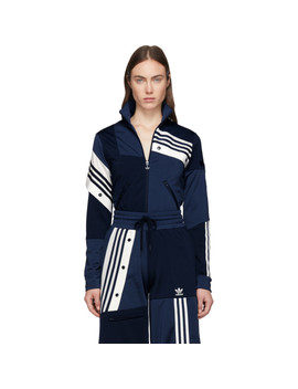 Blue Deconstructed Track Jacket by Adidas Originals By DaniËlle Cathari