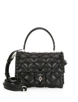 Candy Stud Leather Top Handle Satchel by Valentino Garavani