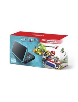 New Nintendo 2 Ds Xl System W/ Mario Kart 7 Pre Installed, Black & Turquoise, Jansbadb by Nintendo